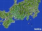 2020年06月02日の東海地方のアメダス(風向・風速)