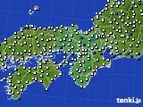 2020年06月02日の近畿地方のアメダス(風向・風速)