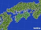 2020年06月02日の四国地方のアメダス(風向・風速)