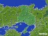 2020年06月02日の兵庫県のアメダス(風向・風速)