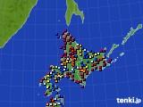 2020年06月03日の北海道地方のアメダス(日照時間)