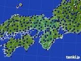 2020年06月03日の近畿地方のアメダス(日照時間)