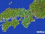 2020年06月03日の近畿地方のアメダス(気温)