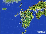 2020年06月03日の九州地方のアメダス(気温)