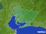 2020年06月03日の愛知県のアメダス(気温)