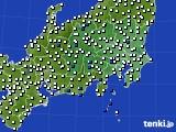 関東・甲信地方のアメダス実況(風向・風速)(2020年06月03日)