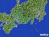2020年06月03日の東海地方のアメダス(風向・風速)