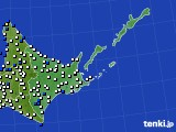 2020年06月03日の道東のアメダス(風向・風速)