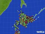 北海道地方のアメダス実況(日照時間)(2020年06月04日)