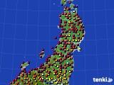東北地方のアメダス実況(日照時間)(2020年06月04日)