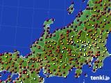 北陸地方のアメダス実況(日照時間)(2020年06月04日)