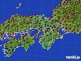 2020年06月04日の近畿地方のアメダス(日照時間)
