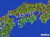 四国地方のアメダス実況(日照時間)(2020年06月04日)