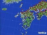 九州地方のアメダス実況(日照時間)(2020年06月04日)