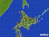 北海道地方のアメダス実況(気温)(2020年06月04日)