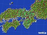 2020年06月04日の近畿地方のアメダス(気温)