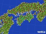 2020年06月04日の四国地方のアメダス(気温)