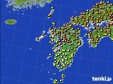 2020年06月04日の九州地方のアメダス(気温)
