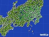 2020年06月04日の関東・甲信地方のアメダス(風向・風速)