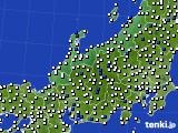北陸地方のアメダス実況(風向・風速)(2020年06月04日)