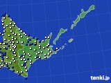 2020年06月04日の道東のアメダス(風向・風速)