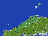 2020年06月04日の島根県のアメダス(風向・風速)