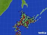 北海道地方のアメダス実況(日照時間)(2020年06月05日)