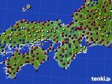 2020年06月05日の近畿地方のアメダス(日照時間)