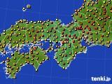 2020年06月05日の近畿地方のアメダス(気温)