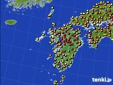 2020年06月05日の九州地方のアメダス(気温)