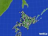 北海道地方のアメダス実況(風向・風速)(2020年06月05日)
