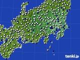 2020年06月05日の関東・甲信地方のアメダス(風向・風速)
