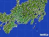 2020年06月05日の東海地方のアメダス(風向・風速)