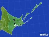 道東のアメダス実況(降水量)(2020年06月06日)