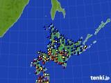 北海道地方のアメダス実況(日照時間)(2020年06月06日)