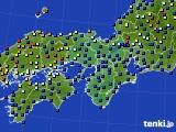 2020年06月06日の近畿地方のアメダス(日照時間)