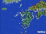 九州地方のアメダス実況(日照時間)(2020年06月06日)