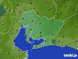 2020年06月06日の愛知県のアメダス(気温)