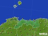 2020年06月06日の鳥取県のアメダス(気温)