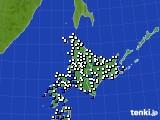 2020年06月06日の北海道地方のアメダス(風向・風速)