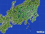 関東・甲信地方のアメダス実況(風向・風速)(2020年06月06日)