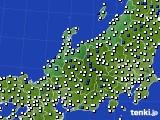 北陸地方のアメダス実況(風向・風速)(2020年06月06日)