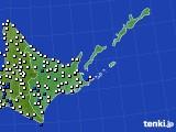 2020年06月06日の道東のアメダス(風向・風速)