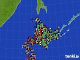 北海道地方のアメダス実況(日照時間)(2020年06月07日)
