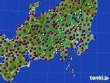 関東・甲信地方のアメダス実況(日照時間)(2020年06月07日)
