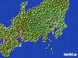 2020年06月07日の関東・甲信地方のアメダス(気温)