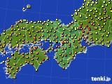 2020年06月07日の近畿地方のアメダス(気温)