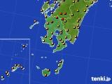 2020年06月07日の鹿児島県のアメダス(気温)