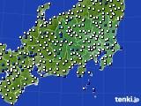 2020年06月07日の関東・甲信地方のアメダス(風向・風速)