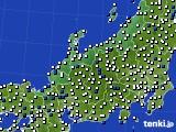 2020年06月07日の北陸地方のアメダス(風向・風速)